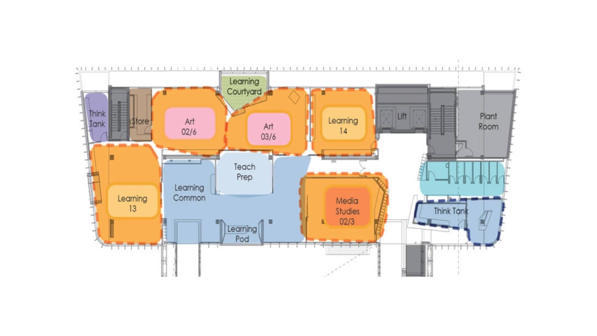 Adelaide Botanic High School - Building Diagram of Level 4